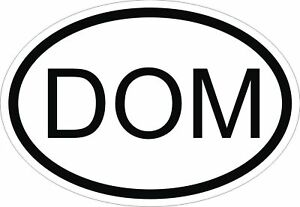 Image Is Loading Dom Dominican Republic Country Code Oval Sticker Per