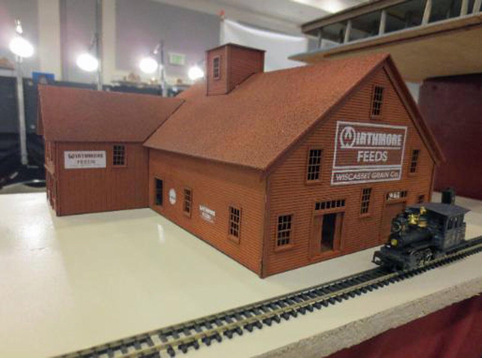 Empresa de grano Escala Ho Maqueta De Tren Sin Pintar estructura Láser Kit DF425H