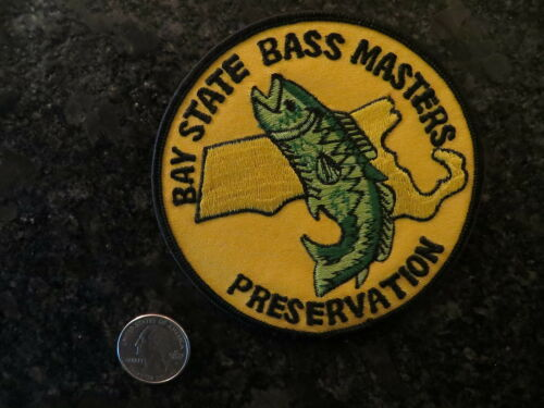 Bay State Bass Masters Preservation 4  inch Vintage Mint Fishing Patch