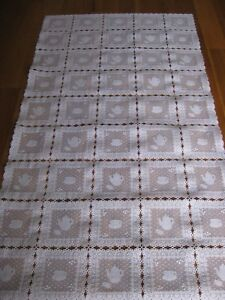 Image Is Loading Plastic Lace Tray Cloth Table Runner Polly White