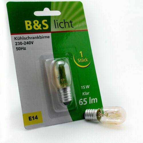 E14 Kühlschranklampe 15W Leuchtmittel Kühlschrankbirne Birne Kühlschrank Lampe