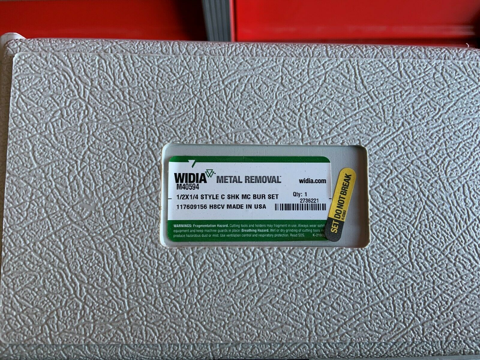 WIDIA METAL REMOVAL M40594 Carbide Bur Sets,1//2,8 Pcs