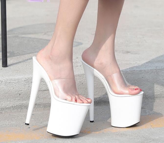 Sexy Mujer Tacones Altos Plataforma Stiletto Sandalias Sandalias Sandalias Club nocturno Runway zapatos claro Talla  precios razonables