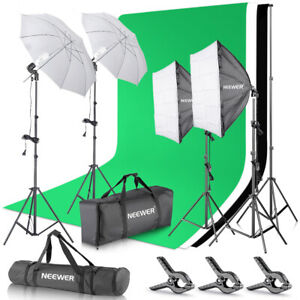 Neewer-Background-Support-System-Kit-with-Backdrop-Softbox-Continuous-Lighting