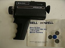 Vintage Bell & Howell XL Autoload 2220 Super 8 Movie Camera w/ manual
