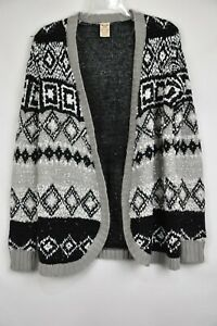 961694449f5d FADED GLORY Womens Knit Shrug Open Front Sweater M 8-10 Stretch ...
