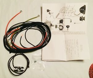 image is loading harley-1926-28-single-wiring-harness-pea-shooter-