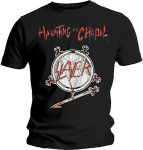 SLAYER-Haunting-The-Chapel-T-SHIRT-OFFICIAL-MERCHANDISE
