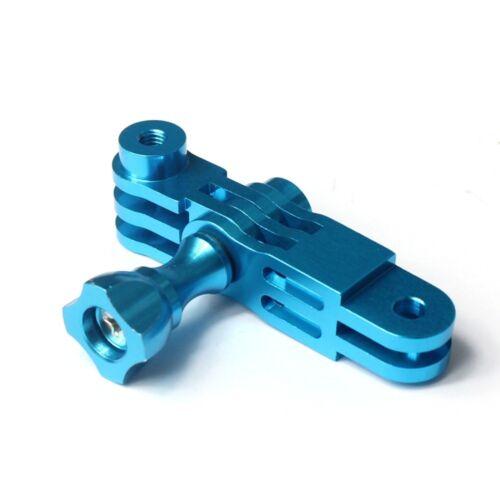 4 5 CNC Aluminio de tres vías brazo de pivote Adaptador De Montaje AZUL PARA GOPRO Hero 1 2 3 3
