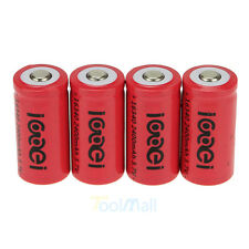 Lot 4 x 2400Mah 3.7V 16340 CR123A 123A CR123 Li-ion Rechargeable Battery Cell US