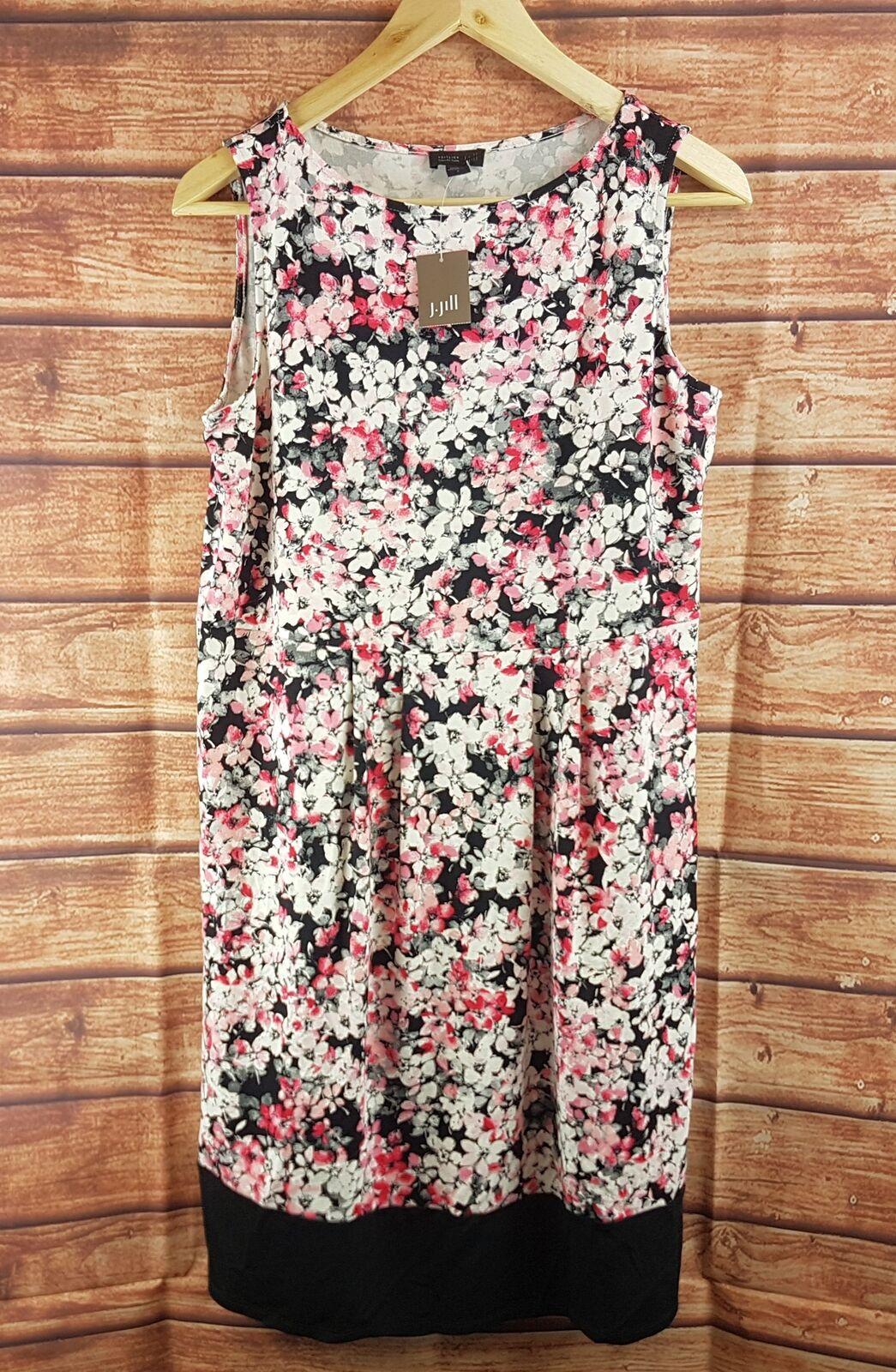 New J Jill Long Sleeveless Multicolor Floral Dress - All Sizes