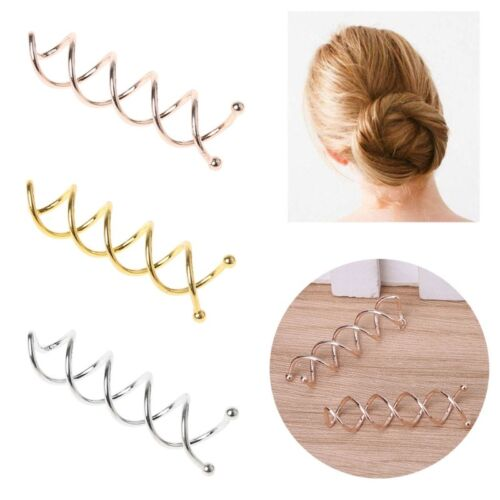 10pcs Hair Clip Bobby Pin Women Hairs Styling Spiral Spin Screw Twist Barrette
