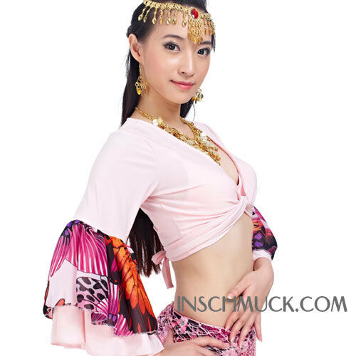 C964 Belly dance costume Tribal Fusion BellyTop Top in Flower Motive