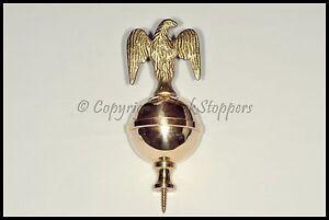 Quality Brass Eagle Finial Clock Grandfather Longcase Ornament Decoration Ball