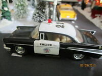 HOUSE VILLAGE DIE-CAST METAL POLICE CAR plus+ DEPT 56/LEMAX CLUB info sheets
