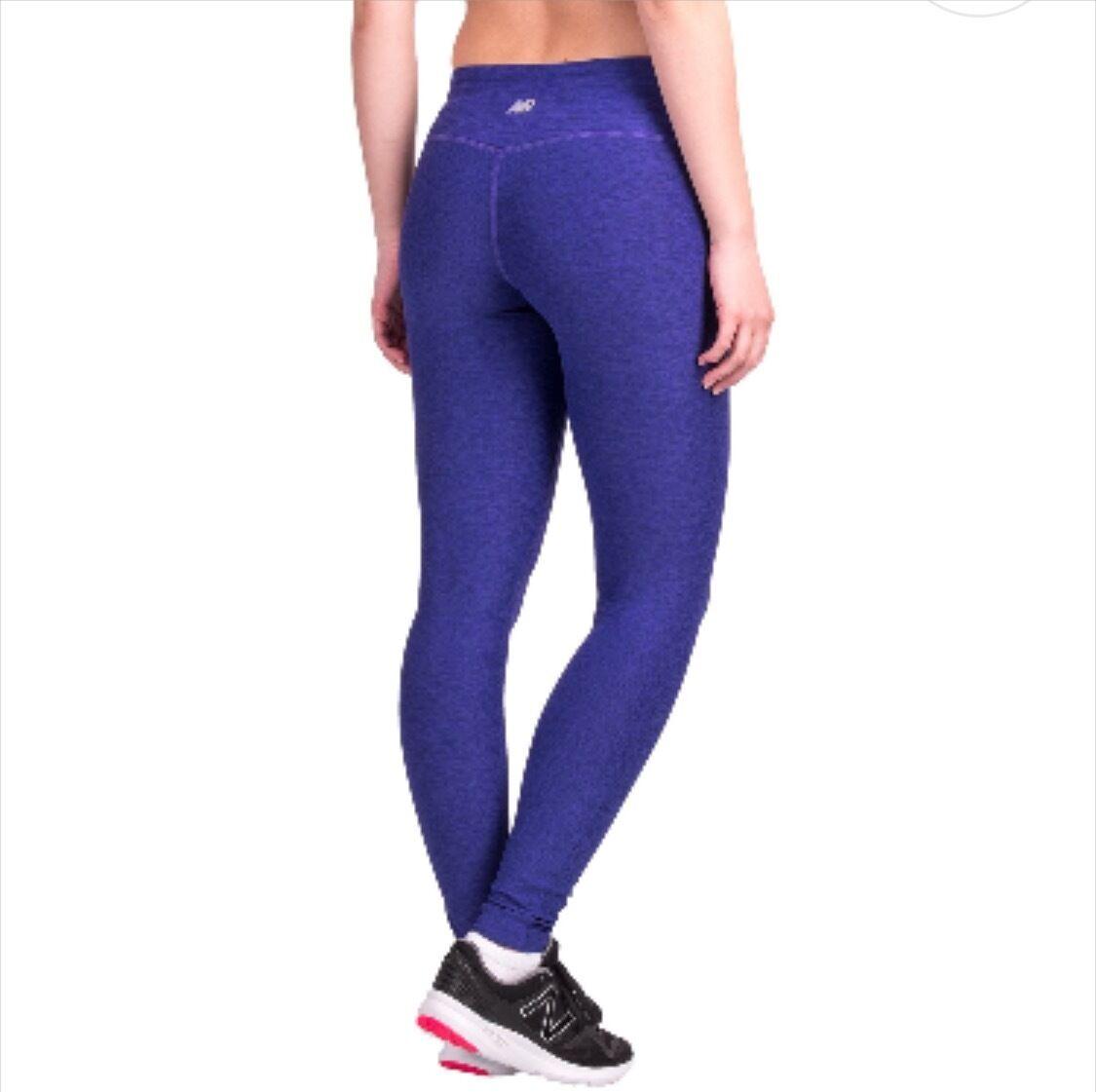 NWT Women's New Balance Athletic Yoga Space Dye Leggings Purple XS S L XL