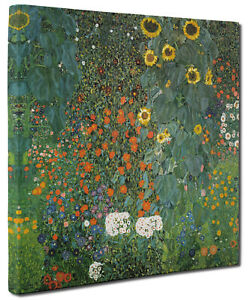 Country Garden Sunflowers by Gustav Klimt Canvas Picture Wall Art Print