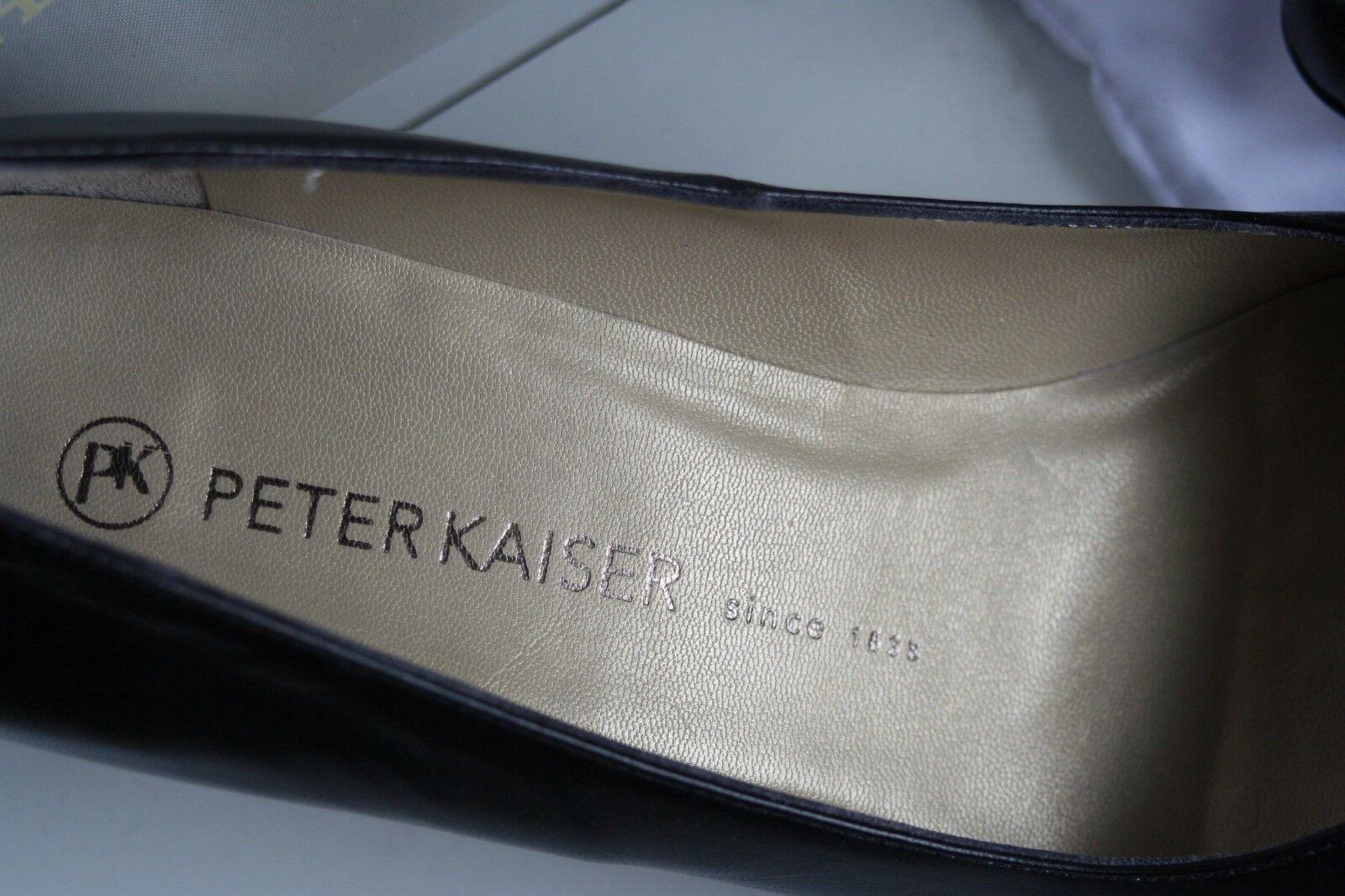 best website 17136 78d94 ... PETER KAISER KAISER KAISER Neu schwarz BEN feines echtes Chevro Leder  Gr 7 41 5a9da7 ...