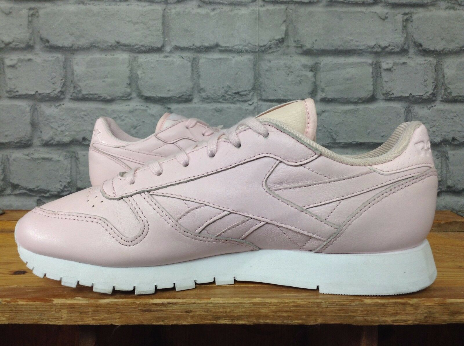 REEBOK LADIES UK 3 EU 35.5 rose LEATHER CLASSIC TRAINERS TRAINERS TRAINERS c9417d
