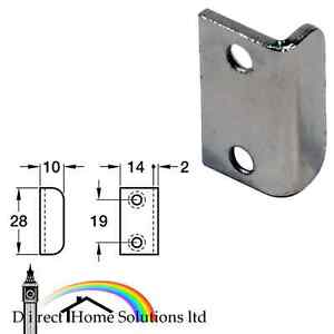 steel 28 x 10 mm Striking plate