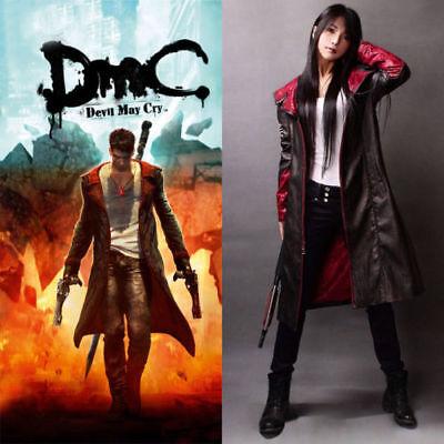 New Devil May Cry V DMC 5 Dante Cosplay Costume Red Three-quarter Sleeve Coat