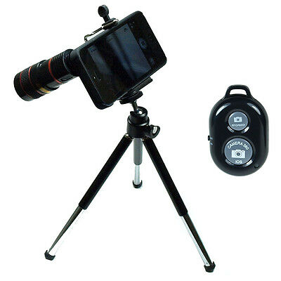 8X Zoom Telescope Camera Lens + Tripod +Case + Remote Shutter for iPhone 5 5s
