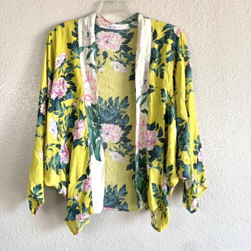 Anthropologie Elma Floral Kimono Dolman Sleeve Wom