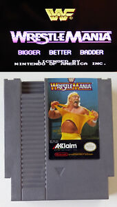 Wwf Wrestlemania Nintendo Video Game Tested Working Nes Ebay