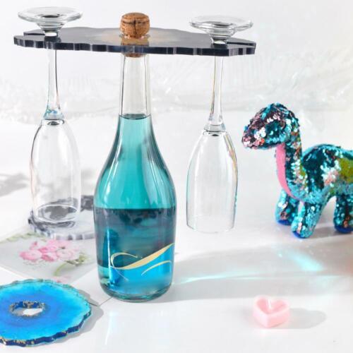 Wine Rack Mould DIY Coaster Tray Crystal Epoxy Resin Coaster Cup Holder Mold