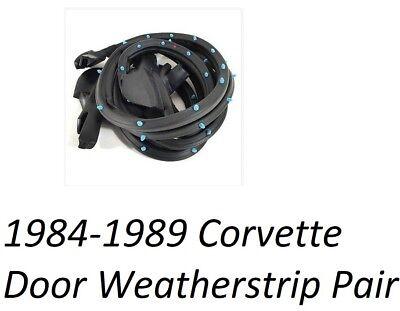 CORVETTE Door Weatherstrip Rubber Pair fits 1984-1989 Corvette Sold PAIR NEW