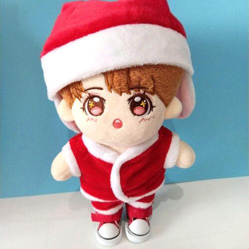 20CM Kpop EXO BaekHyun NCT Plush Doll/'s Clothes Outfit Christmas Hat Top Pants