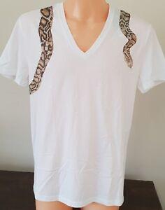 McQueen serpente etichetta shirt T magliette Mcq con S serpente Alexander bianche 7I7Rq8