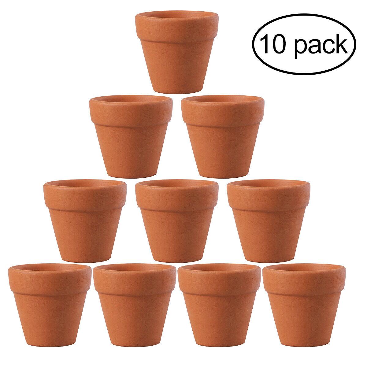 10Pcs Mini Clay Ceramic Terracotta Pot Flower Plants Pots Craft Wedding Favor