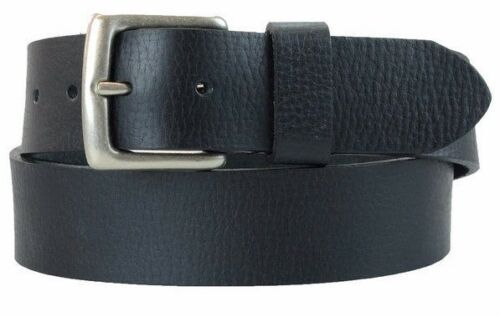 Men/'s US Steer Hide Leather 38MM Milled Belt With Nickel Buckle Made In The USA