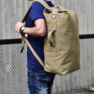 Men-039-s-Vintage-Canvas-Outdoor-Travel-Hiking-Backpack-Rucksack-Shoulder-Laptop-Bag
