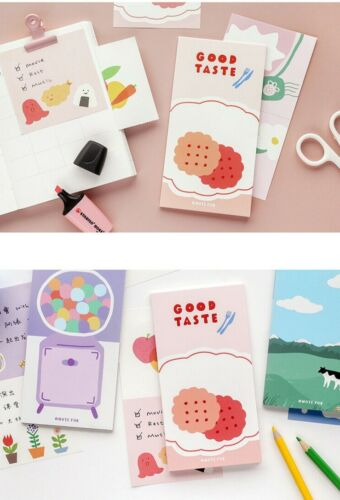 Lot 6 Korean Stationery Food Dessert Notepad Cute Kawaii Memo Pad Notes Cartoon