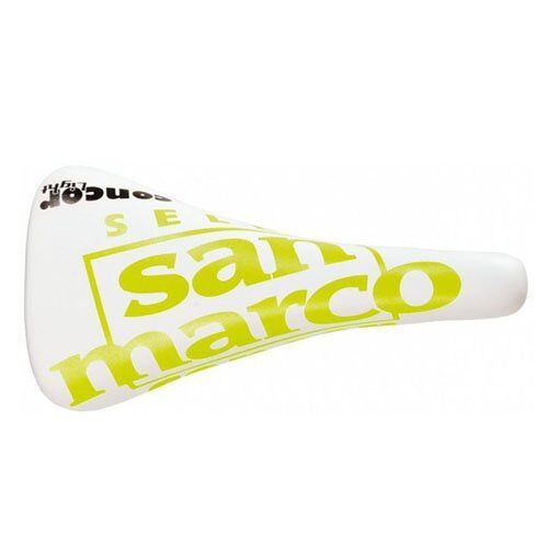 Selle San Marco Concor Light Bicycle Saddle , White x Yellow