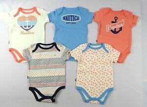 Romper sizes 3//6 6//9 months Nautica Baby Boys/' 5 Pack Bodysuits