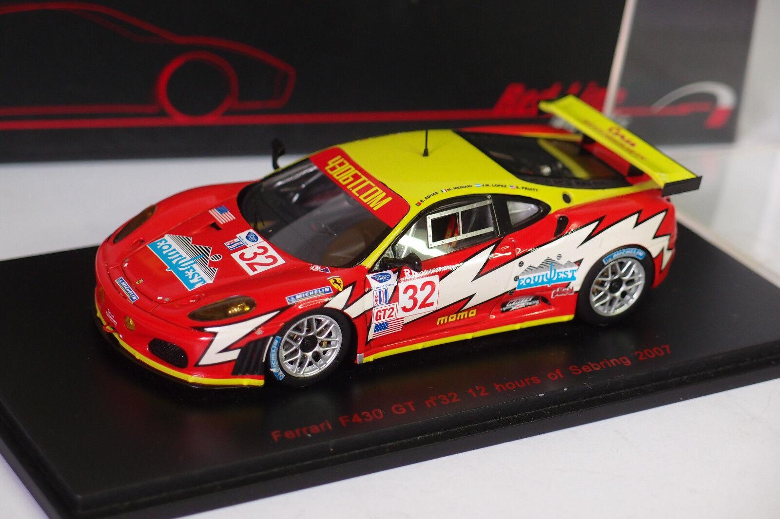 rosso LINE FERRARI F430 GT HOURS SEBRING 2007 1 43
