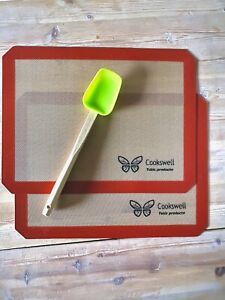 Cookswell Silicone Baking Mats - Set of 2 - 40cm x 30cm *Free Spatula & postage*