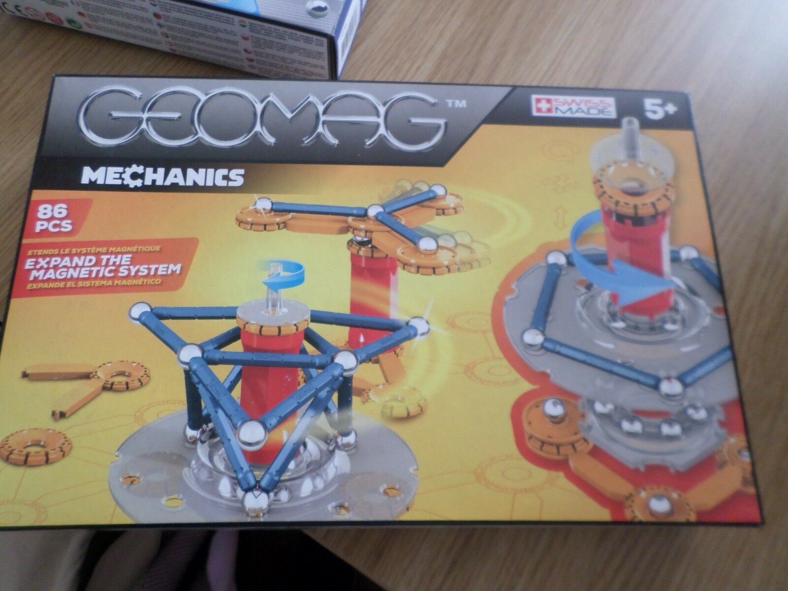 GEOMAG MECHANICS 86 PIECE SET MAGNETIC CONSTRUCTION  NEW FREE UK POST