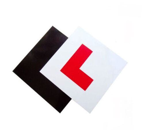 2 PACK PREMIUM FULLY MAGNETIC L PLATES EXTRA THICK STRONG LEARNER PLATES DRIVER