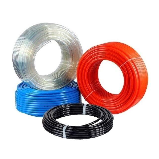 Flexible Polyurethane Air Tubing Fuel Gas Line PU Tube Hose 4mm x 6mm x 4m Black