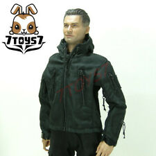 Wild Toys 1/6 Adventure & Tactical_ Black Jacket _Stealth Jacket Hoodies WT011H