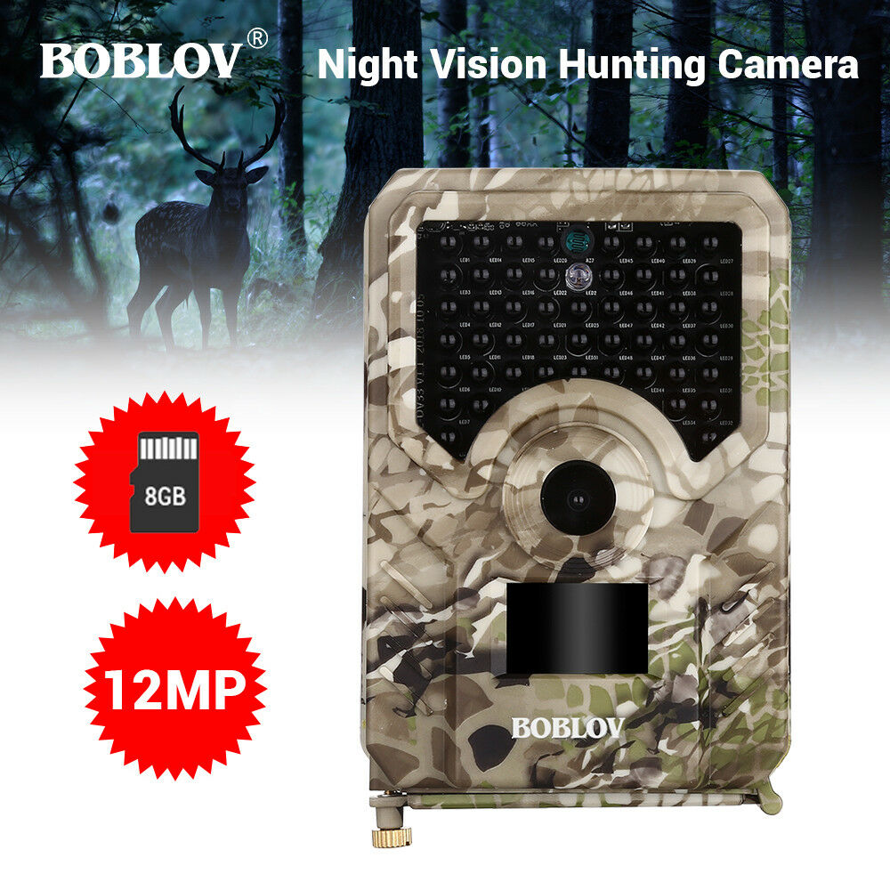 12MP 1080P Trail Hunting Camera With 8GB Card IP56  Deer Animal Scouting Camera  store online