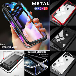 For-iPhone-XR-XS-6s-Magnetic-Adsorption-Tempered-Glass-360-Full-Protective-Case