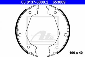 BREMSBACKENSATZ-frein-de-stationnement-pour-dispositif-de-freinage-Essieu-arriere-UAT-03-0137-3009-2