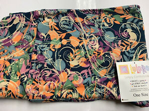 LulaRoe Women/'s OS Leggings Fall Color pastel flower shapes mix multi print NEW