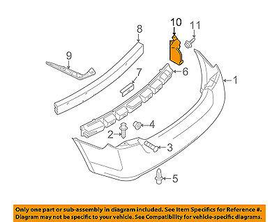 NISSAN OEM 07-12 Sentra Rear Bumper-Closing Plate Right 78818ET00A