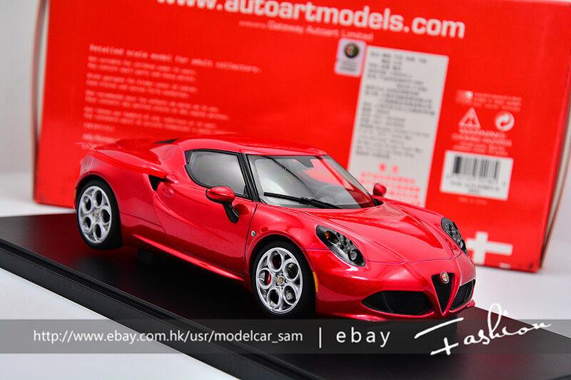 Autoart 1 18 Alfa Romeo 4C Rojo